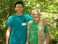 Bryan Hamlin, botanist and Friends of the Fells Board Member with Brian Lai