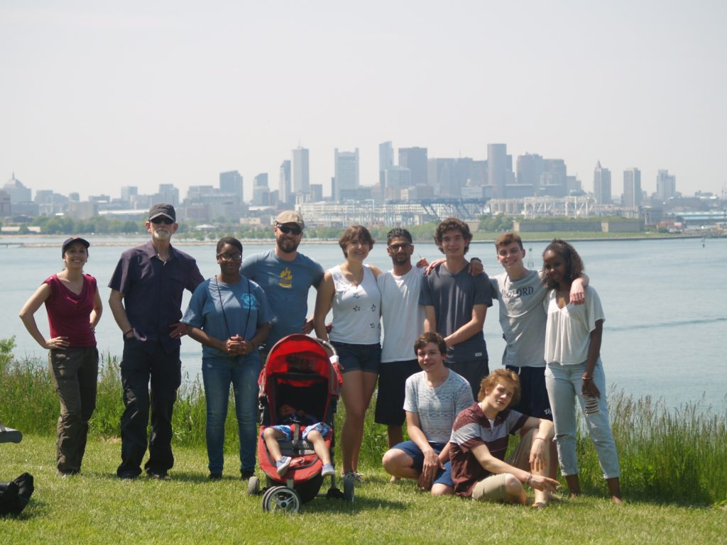 Mustangs of the Fells visit Spectacle Island last year in a lesson on how the park is part of the larger Boston Harbor watershed.